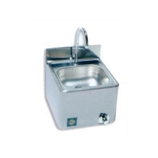 Picture of Stainless steel wash basin, wall model (bowl 385x385mm)