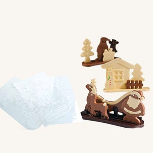 Picture of 3D Mould KIT CHRISTMAS - 3 DIFFERENT FORMS