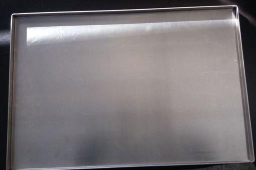 Imagem de Tabuleiro de alumínio liso  com aba a 90º - 600x400mm