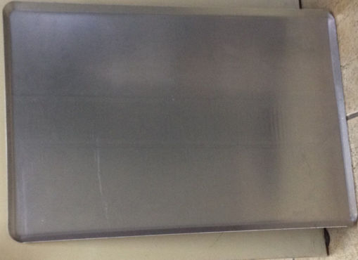 Picture of Plain aluminium tray with flap 45º - 600x400mm