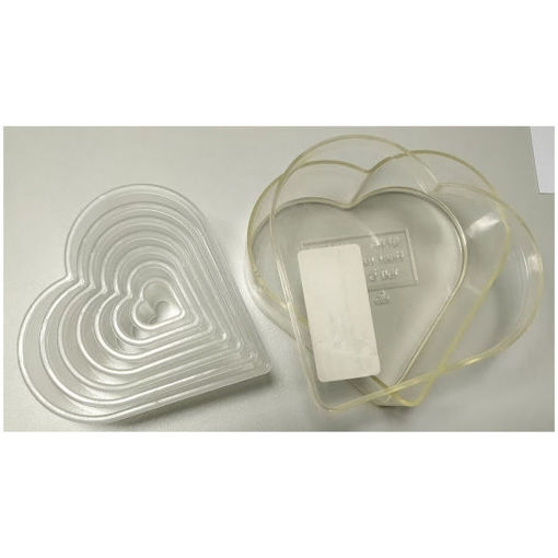 Picture of Heart cutter - 7 pieces in polycarbonate