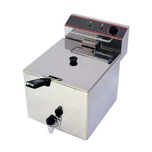 Picture of Eletric fryer with faucet, 10 Lt oil capacity, three-phase